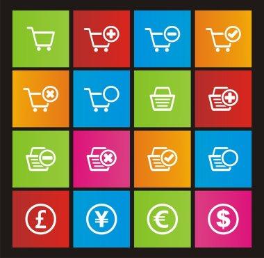 Online shop metro style icons