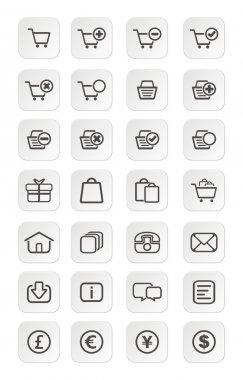 Ecommerce icon sets