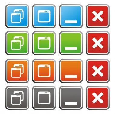 Maximize minimize square buttons