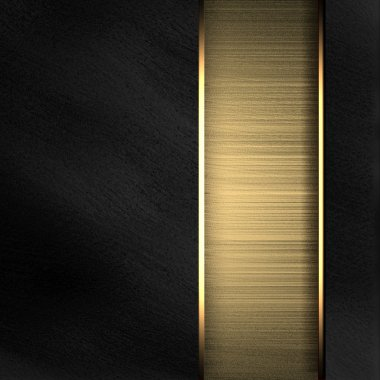 Black background with gold texture stripe layout