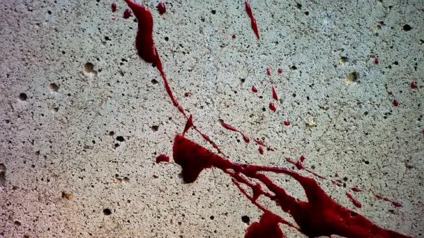 rozstřikování krve na zdi