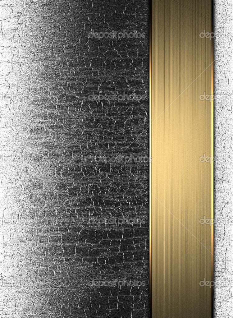 placa de metal de plantilla con una franja de oro. diseño de ...