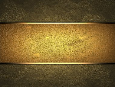 Beautiful gold background with a gold nameplate for writing.