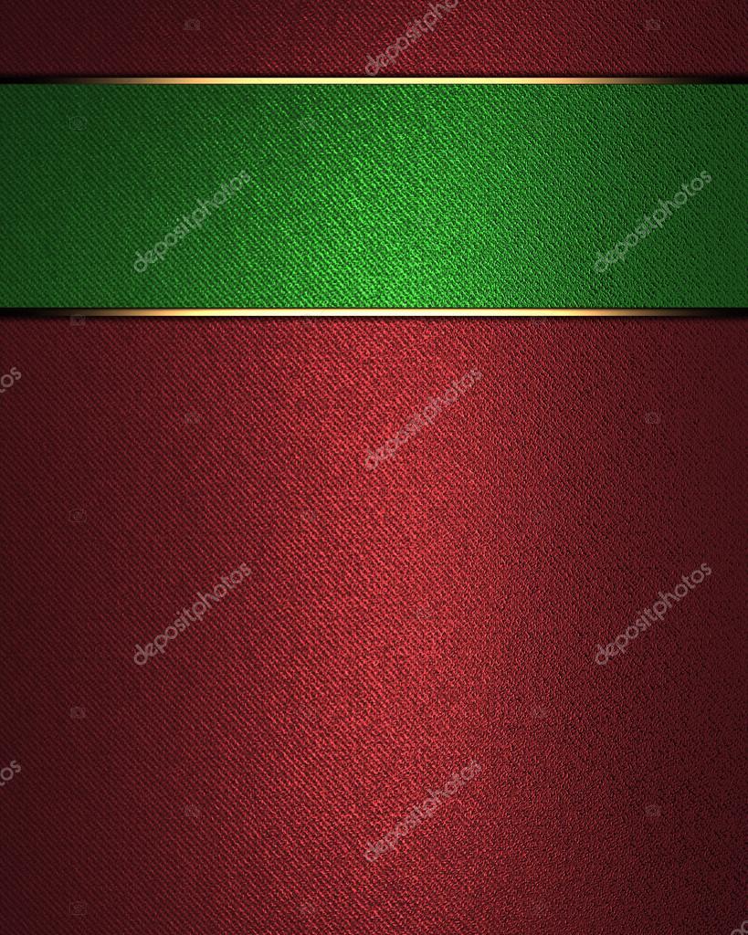 Resumen fondo rojo con placa verde para la escritura — Foto de stock ...