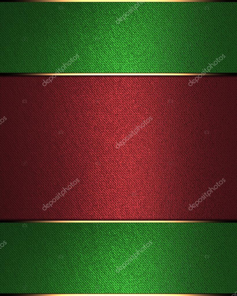 Resumen fondo verde con rojo de la muestra para la escritura — Fotos ...