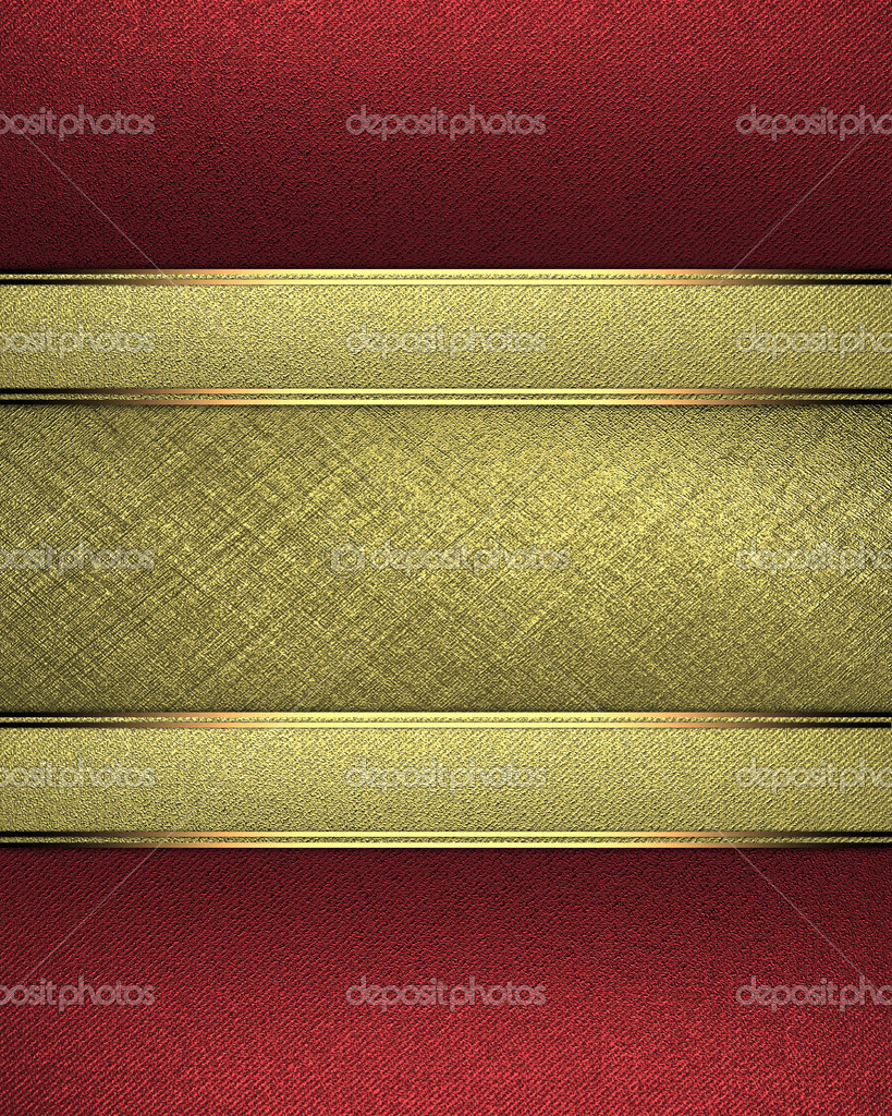 red background with a gold name plate for writing stock photo