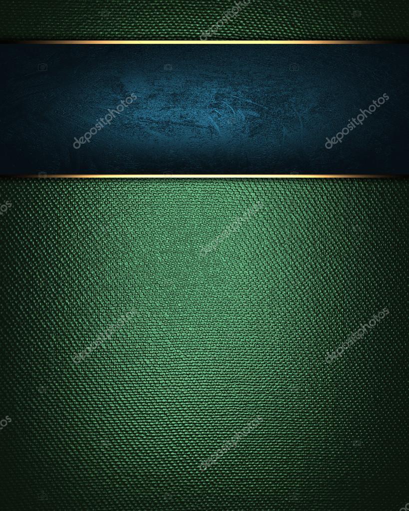 Targa Blu Su Sfondo Verde Foto Stock Swevil 38428625