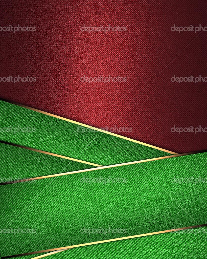plantilla de diseño - fondo rojo con unas cintas verdes envolver ...