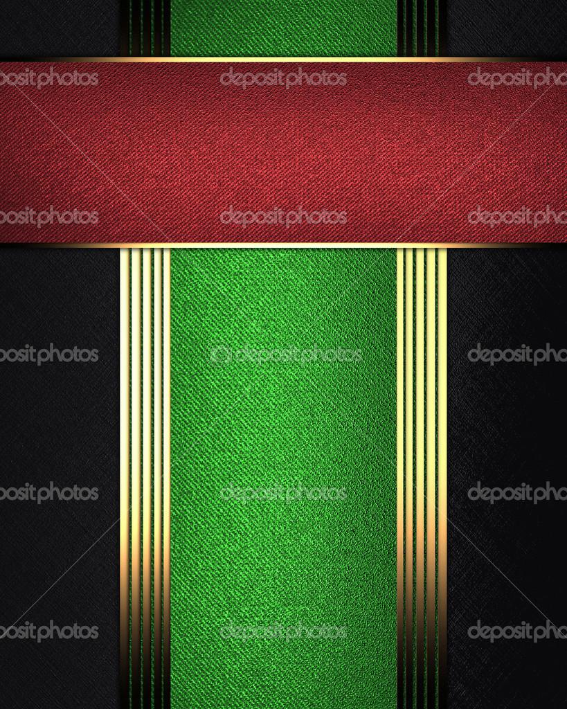 fondo negro, con una placa verde y placa roja — Fotos de Stock ...