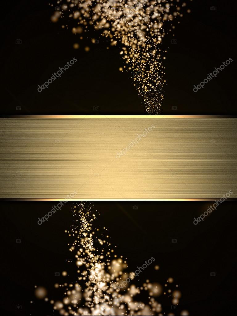 Christmas sparkle. Flickering yellow sparkler, and gold nameplate