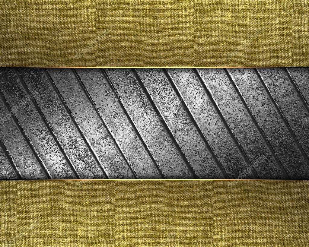 Textura dorada con chapa de hierro en el medio fotos de - Chapa de hierro ...