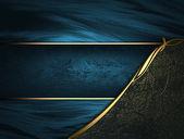 Fényképek kék textúra a fekete szegélyek és az arany és a kék ajtókárpit névtábla