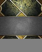 Fényképek arany textúra sötét betétek és a fém névtábla írásra