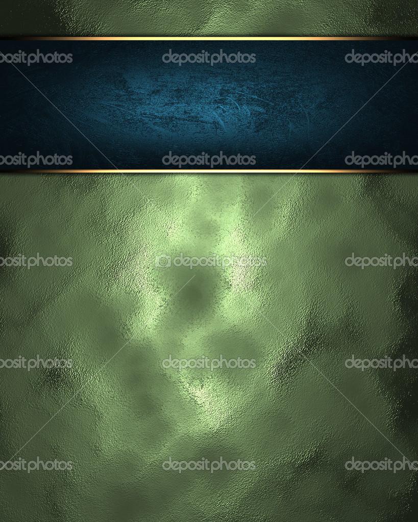 Astratto Sfondo Verde Con Targa Blu Foto Stock Swevil 38507669