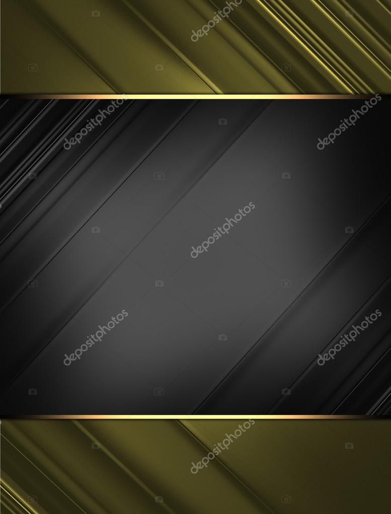 fondo negro con bordes de oro. diseño de plantillas. plantilla para ...