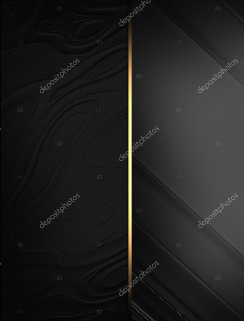 elegant black background with a gold stripe template design