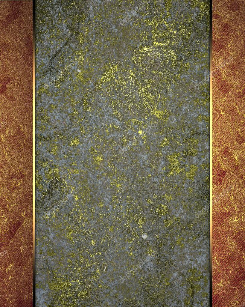 Fondo Grunge gris con oro con bordes rojos — Foto de stock © SWEviL ...
