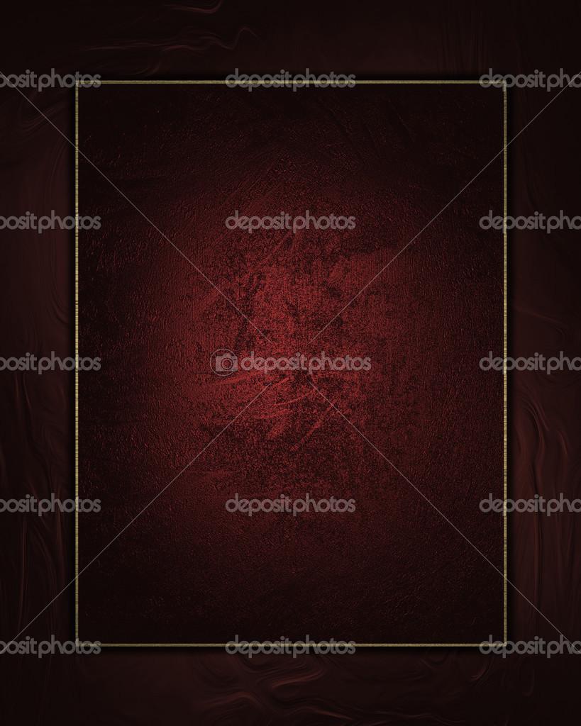 fondo rojo con placa roja con bordes de oro — Fotos de Stock ...