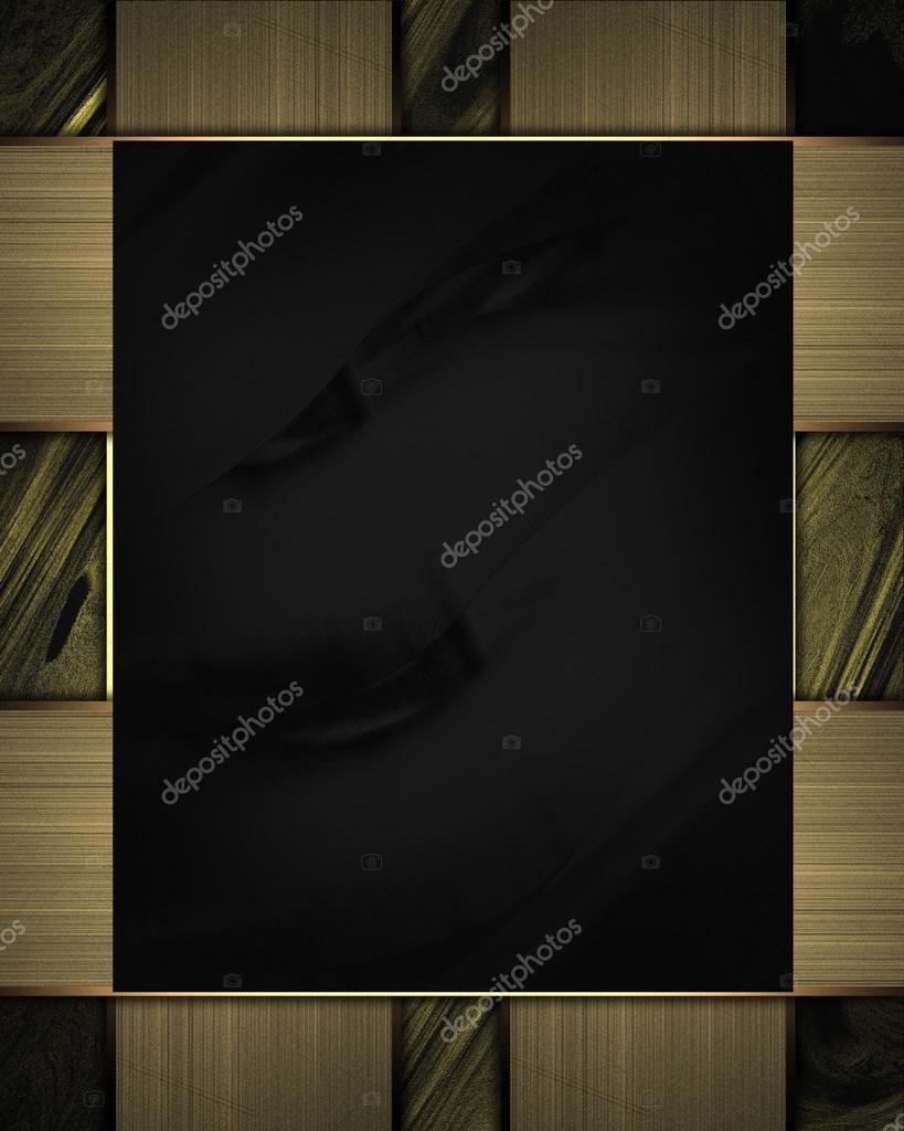 placa negra con bordes de oro Resumen. diseño de plantillas — Fotos ...
