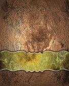 Fényképek régi réz grunge textúra aranyozott névtábla. tervezősablon