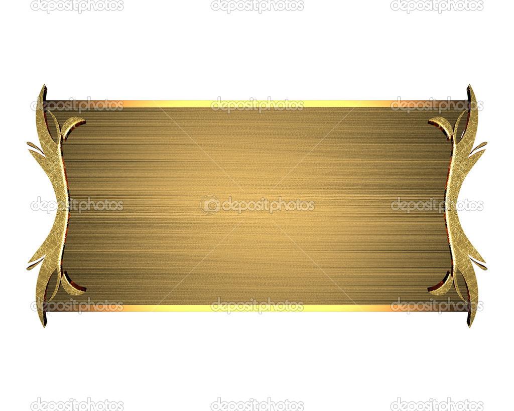 Gold Nameplate Design Template Design Site Stock Photo Swevil