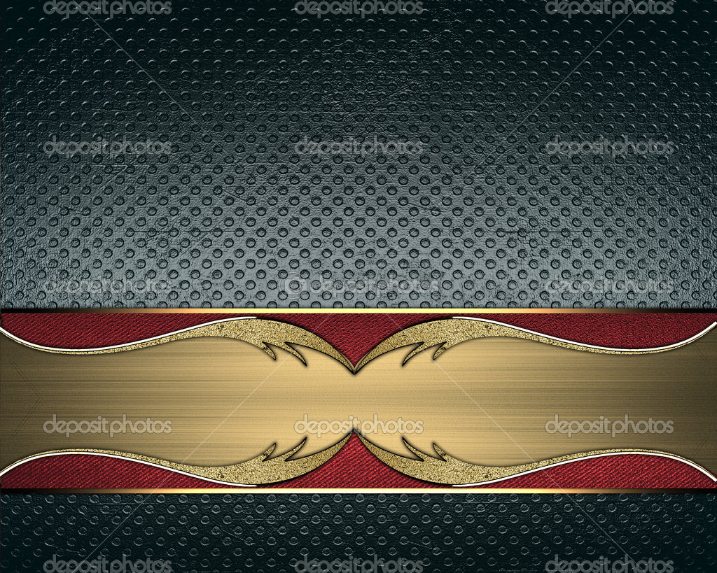abstract design template for blue background with gold nameplate