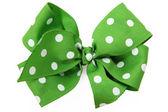 Grüne Haarschleife