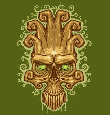 Vector skull tattoo