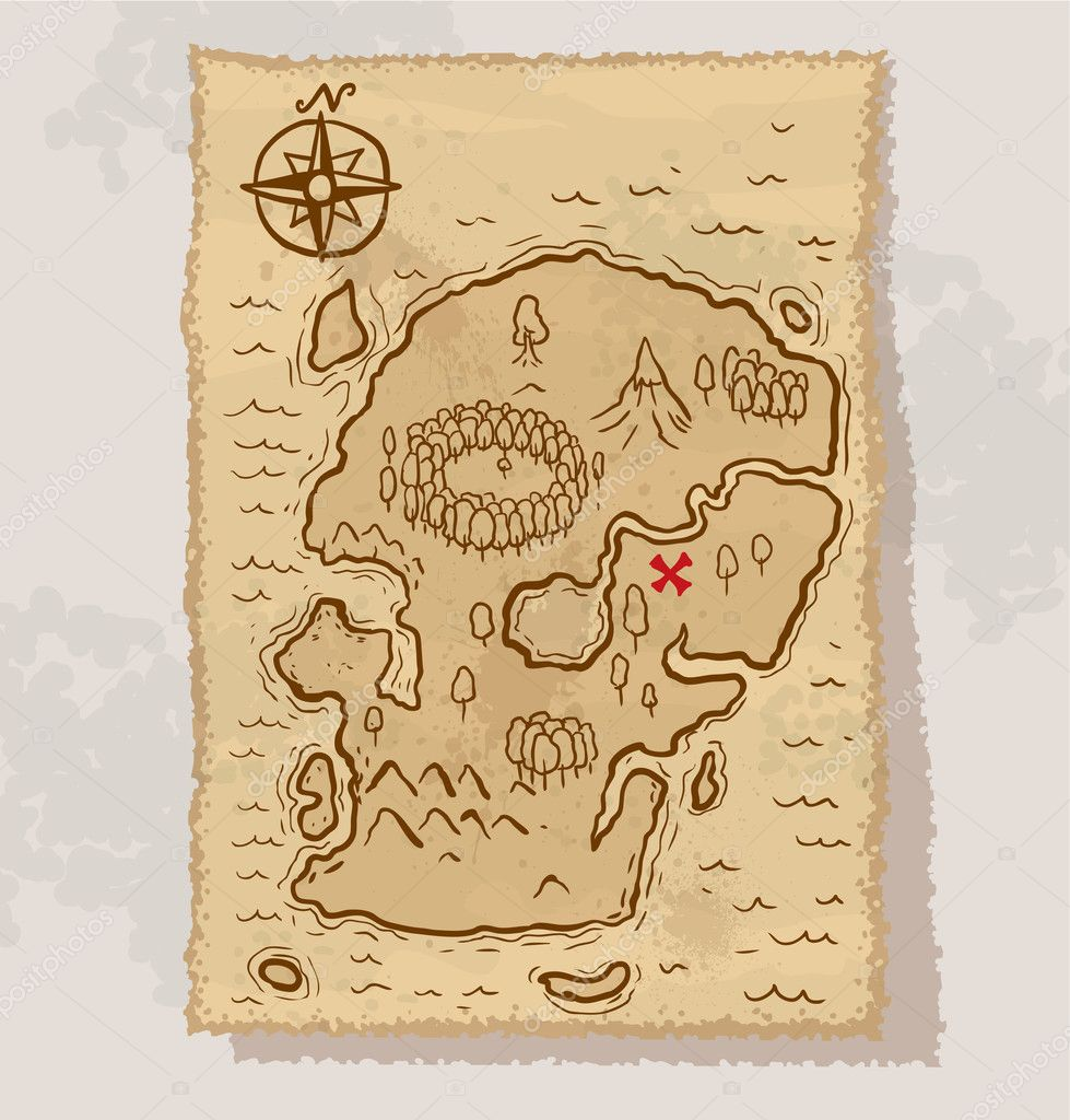 vector pirate treasure map u2014 stock vector ivannikulin 19289577