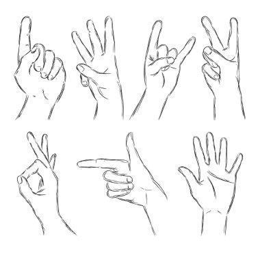 Black Outline Hands