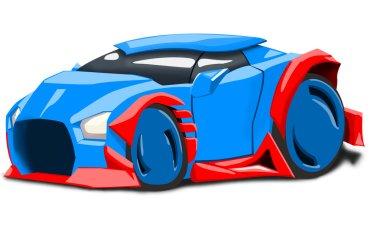 blue futuristic car