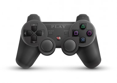 Photo-realistic illustration of a universal game controller