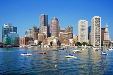 Boston Skyline on a Sunny Day