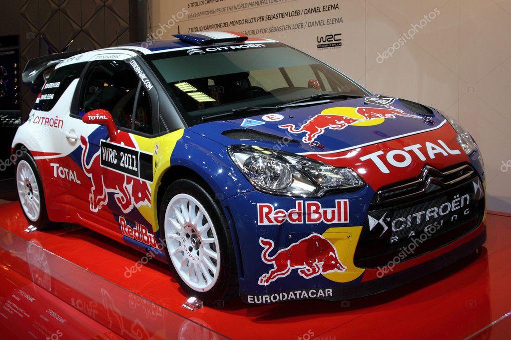 Rally car at motorshow