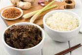 Fényképek marha rendang  ragacsos rizs