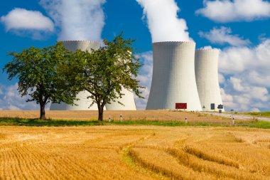 Nuclear Power Plant in Temelin in the Czech Republic in Summer