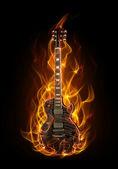 kytara v ohni