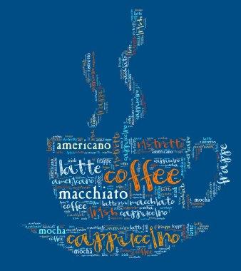 Wordcloud coffee cup