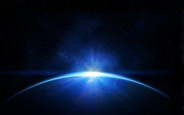Uzayda Dünya gezegeni