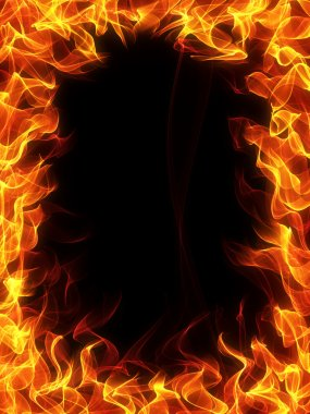 "Картина, постер, плакат, фотообои ""Огонь и пламя кадр"", артикул 15642799"