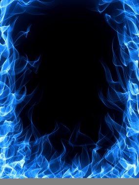 Blue fire frame