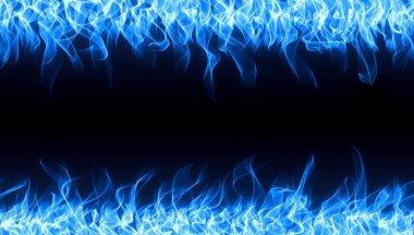 Blue fire border