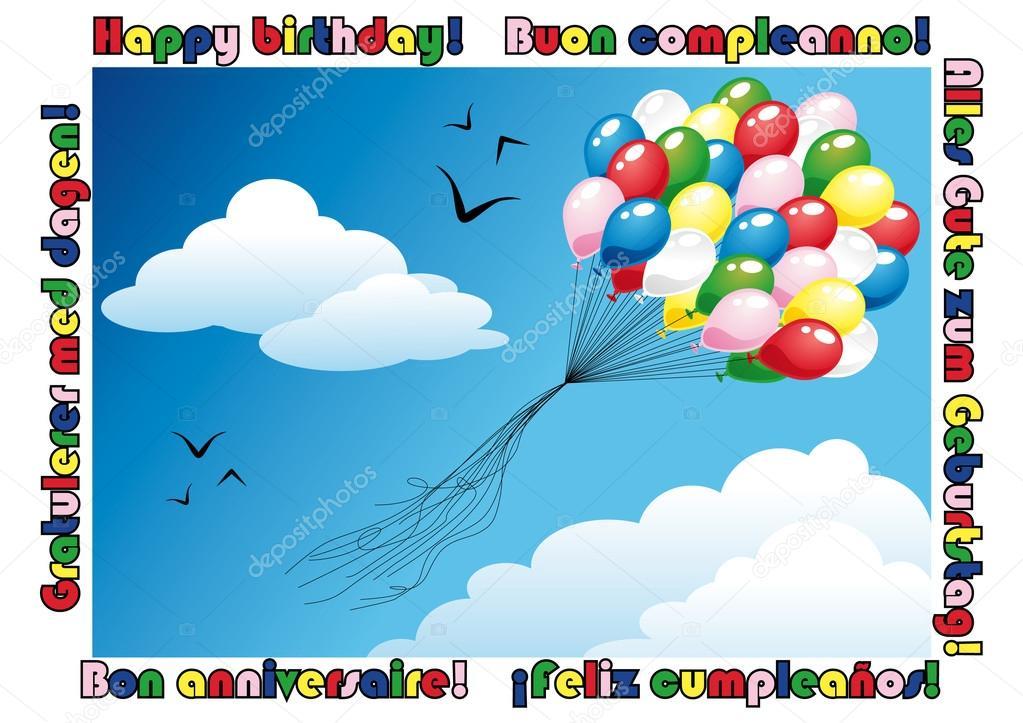 Happy birthday card Vector Ominodicarta 15645763 – Italian Birthday Card