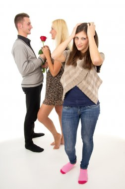 cheating boyfriend with another girl
