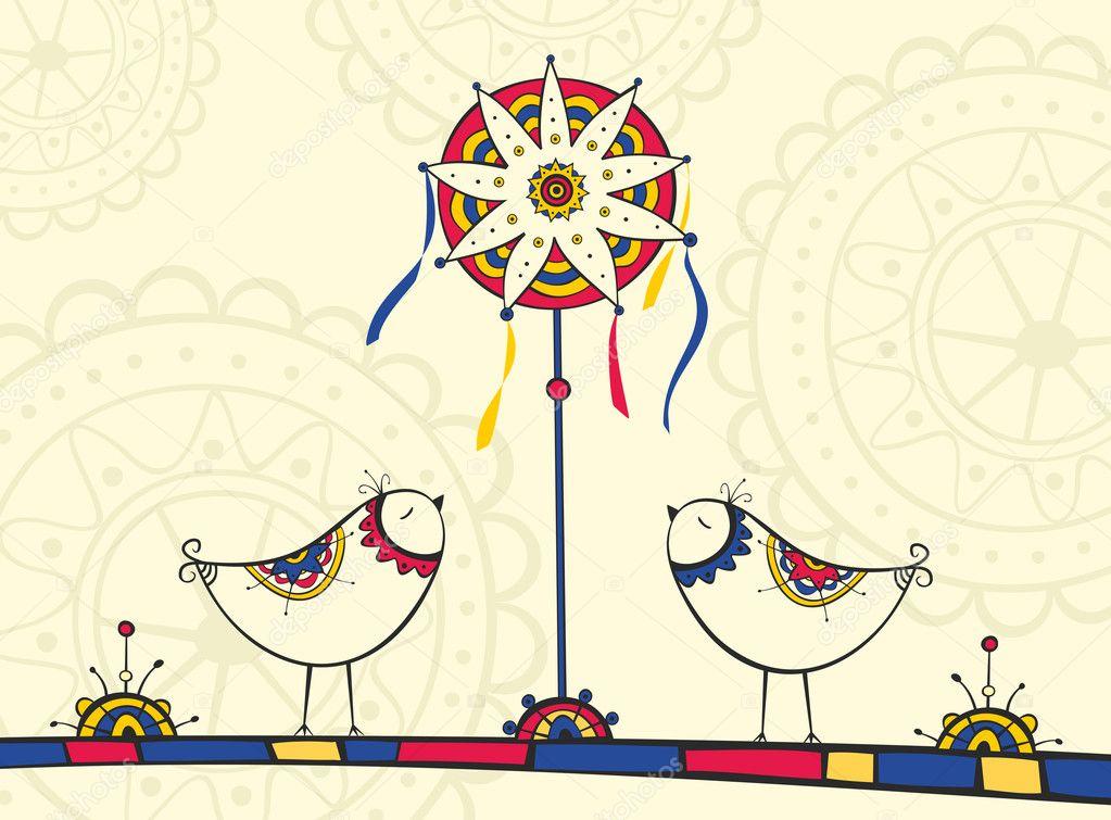 Auguri Matrimonio In Ucraino : Biglietto di auguri con simboli tradizionali natale