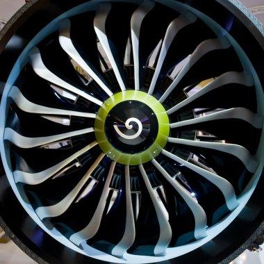 Airplane turbine stock vector