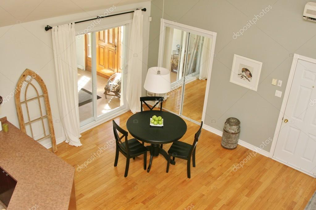 Dining Room With Patio Doors From Above U2014 Stock Photo