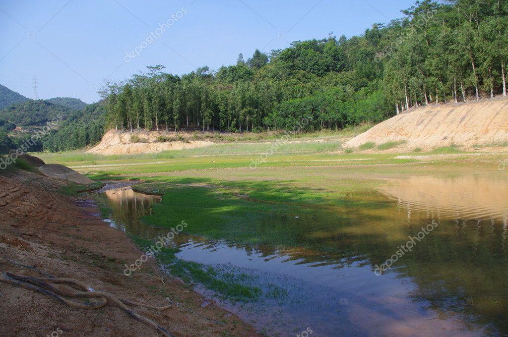 Beautiful lakes at countryside of south china