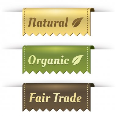 Stylish Tag Labels for Natural, Organic, and Fair Trade