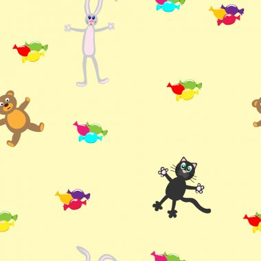 Seamless vector Wallpapers with cartoon animals